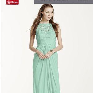 David's Bridal Mint Dress